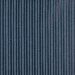 Dark Blue Two Toned Stripe Upholstery Fabric By The Yard - P3611 is great for residential, and commercial applications. This fabric will exceed at least 35,000 double rubs (15,000 is considered heavy duty), and is easy to clean and maintain.