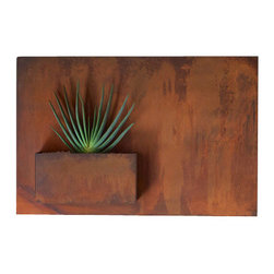 Potted - City Planter by Potted, Large, Horizontal - Wall planters as art. City Planters add an intriguing dimension to vertical gardening. Hang several on a wall for dramatic impact, or let them stand alone.