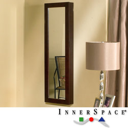 InnerSpace Luxury Products - Dalton Home Collection Espresso Mirrored Jewelry Wall Armoire ...