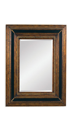 Bassett Mirror - Bassett Mirror Valejo Wall Mirror - Antique gold and ebony framework adds a bold edge to this striking wall mirror. It would look stunning over a brick fireplace or as a centerpiece in an eclectic living room.