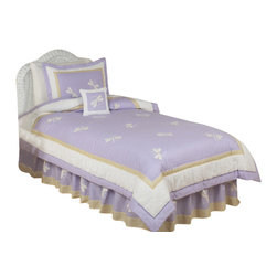 Sweet Jojo Designs - Purple Dragonfly Dreams Bedding Set by Sweet Jojo Designs - The Purple Dragonfly Dreams Bedding Set by Sweet Jojo Designs, along with the  bedding accessories.