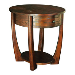 """Hammary - Concierge Oval End Table in Medium Brown Finish - """"With its stunning new """"""""Concierge"""""""" collection, Hammary has thought of everything. No detail is too small, no convenience overlooked. Nothing spared to create some of the finest furniture on the market."""