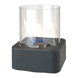 Brasa - Centerpiece Slate - Compact and portable, this fire feature creates atmosphere wherever you choose to put it. Its the perfect centerpiece for a dinner table, coffee table or outdoor table on the patio or by the pool. Features our spill proof burner (patent pending).