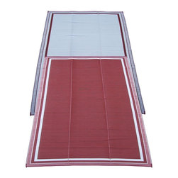 Fireside Patio Mats - Contemporary Indoor/Outdoor Fireside Patio Mats Rugs Cranberry Sunrise 9 ft. x - Shop for Flooring at The Home Depot. Fireside Cranberry Sunrise 108 in. x 144 in. Reversible Patio Mat comes in a deep Cranberry color with White accent stripes. This mat is large enough to comfortably sit 4 to 6 adults. Fireside reversible RV / Patio Mats will add a touch of elegance to your deck or patio. These high quality Polypropylene (plastic) mats are reversible with a complimentary pattern on the opposite side. You get two patterns for one low price. Fireside Patio Mats are lightweight and compact when folded so they are easy to travel with and easy to store. All of our Fireside indoor/outdoor reversible patio mats are stain and fade resistant and clean up is a breeze. Simply rinse your mat with a garden hose and allow to air dry. Fireside reversible patio mats have corner tie-down loops to stake the mat to the ground in windy conditions (tent stakes sold separately). Use our lightweight reversible patio mats to spruce up a tired old deck or patio while camping or RVing on the beach by the pool for picnics at car races while tailgating in the backyard or in the playroom or recreation room. Whether you call them RV mats RV awning mats or simply patio mats Fireside Patio Mats offers high quality reversible mats that are simply gorgeous and functional. Color: Red.