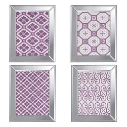 Paragon Art - Paragon Ornamental II ,Set of 4- Artwork - Ornamental II ,Set of 4        ,  Paragon Exclusive Giclee , Paragon has some of the finest designers in the home accessory industry. From industry veterans with an intimate knowledge of design, to new talent with an eye for the cutting edge, Paragon is poised to elevate wall decor to a new level of style.