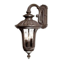Acclaim Lighting - Outdoor Lighting. Augusta Collection Wall-Mount 3-Light Outdoor Burled Walnut Li - Shop for Lighting & Fans at The Home Depot. The Augusta collection 3-light wall-mounted lantern is made of durable cast aluminum. This material is a good choice for exterior lighting since it does not rust and resists corrosion. Complementing its elegant design, this lantern features a clear seeded glass globe.