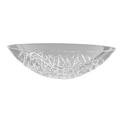 MaestroBath - Demedici ICE Oval Crystal Vessel Sink - Beauty and the basin. Handcut pure-lead crystal brings the ultimate in sparkling modern luxury to your personal space.