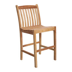 International Home Miami - Amazonia Teak Eden 2-Piece Teak Barstools - Great Quality, elegant design patio set, made of 100% high quality teak wood. Enjoy your patio with style with these great sets from our Amazonia Teak outdoor collection