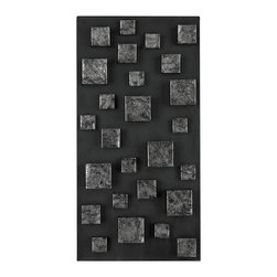 Sterling - Sterling 138-063 Nova Contemporary Wall Panel In Etched Silver (Rectangle) By St - Sterling 138-063 Nova Contemporary Wall Panel In Etched Silver (Rectangle) By Sterling