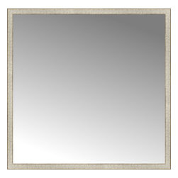 """Posters 2 Prints, LLC - 56"""" x 55"""" Libretto Antique Silver Custom Framed Mirror - 56"""" x 55"""" Custom Framed Mirror made by Posters 2 Prints. Standard glass with unrivaled selection of crafted mirror frames.  Protected with category II safety backing to keep glass fragments together should the mirror be accidentally broken.  Safe arrival guaranteed.  Made in the United States of America"""