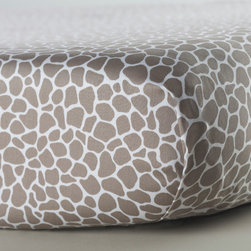 Oilo - Small Cobblestone Crib Sheet, Taupe - Designed for high couture and maximum comfort, Oilo's fitted crib sheets are as soft as they are stylish.  All sheets are fully machine washable, made in the USA and designed to the highest standards of quality everything you've come to expect from Oilo.