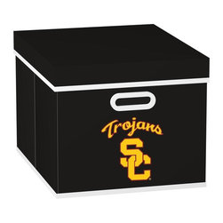 MyOwnersBox - MyOwnersBox Closet Organization College STACKITS University of Southern Cal 12 - Shop for Storage & Organization at The Home Depot. The MyOwnersBox 10 in. x 12 in. x 15 in. University of Southern California College STACKITS Stackable Black Fabric Storage Cube has an attractive team embroided logo that looks great in your storage area. Made of sturdy non-woven polypropylene and reinforced with composite wood this storage cube has a collapsible design and folds out to form a perfect bankers box size that fits letter and legal sized folders and hanging files . Great for adding team spirit to your office or home office as well as tight spaces in your closet or college dorm room. The storage cube is also ideal for storing clothing or small toys in your children's room or laundry room. The lid is reinforced to allow stacking of 3 or more storage cubes and each comes with two reinforced plastic handles for easy mobility. Color: Black.