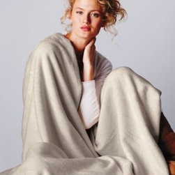 Garnet Hill - Garnet Hill Cotton Fleece Blanket and Throw from Germany - Double - Dune - Crafted in Germany using exclusive Garnet Hill colors, this luxurious all-cotton blanket or throw of soft high-pile fleece wicks away moisture and conserves body heat to keep you comfortable regardless of the season. Finished with matching velour binding on all sides, each blanket and throw is made to last; a special washing process ensures deep and bright colorfast hues for years to come. Germany.