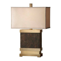 Dark Coffee Bronze / Saddle Brown Lamp