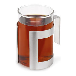Blomus - Darjee Tea Glass with Removable Stainless Steel - Heat resistant glass. Removable stainless steel cup holder. Will serve 0.2 L. Dishwasher safe. Designed by Stotz-Design. 1-Year manufacturer's defect warranty. 3.95 in. H