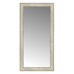 """Posters 2 Prints, LLC - 15"""" x 29"""" Libretto Antique Silver Custom Framed Mirror - 15"""" x 29"""" Custom Framed Mirror made by Posters 2 Prints. Standard glass with unrivaled selection of crafted mirror frames.  Protected with category II safety backing to keep glass fragments together should the mirror be accidentally broken.  Safe arrival guaranteed.  Made in the United States of America"""