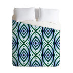 DENY Designs - Wagner Campelo Maranta 1 Duvet Cover - Turn your basic, boring down comforter into the super stylish focal point of your bedroom. Our Luxe Duvet is made from a heavy-weight luxurious woven polyester with a 50% cotton/50% polyester cream bottom. It also includes a hidden zipper with interior corner ties to secure your comforter. it's comfy, fade-resistant, and custom printed for each and every customer.