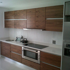 Contemporary Kitchen Cabinets by JV Interiors