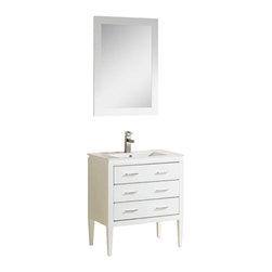 """Adornus - Adornus CAMILE-36-W-C White Vanity - * Matte White Main Cabinet 36"""""""