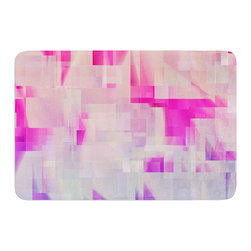 "KESS InHouse - Gabriela Fuente ""Winter Flow"" Pink Purple Memory Foam Bath Mat (24"" x 36"") - These super absorbent bath mats will add comfort and style to your bathroom. These memory foam mats will feel like you are in a spa every time you step out of the shower. Available in two sizes, 17"" x 24"" and 24"" x 36"", with a .5"" thickness and non skid backing, these will fit every style of bathroom. Add comfort like never before in front of your vanity, sink, bathtub, shower or even laundry room. Machine wash cold, gentle cycle, tumble dry low or lay flat to dry. Printed on single side."