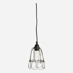 Cb0303 / House Doctor - Lamp shade, Wire, lacquered iron finish, dia.: 12 cm, h.: 18 cm (E27)
