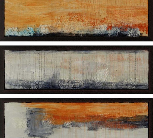 Paragon Decor - Yesterday Set of 3 Artwork - Exclusive Hand Painted on Aluminum