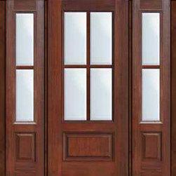"""Prehung French Side lights Door 80 Fiberglass 3/4 Lite 4 Lite - SKU#MCR08-SDL4_DF34D41-2BrandGlassCraftDoor TypeFrenchManufacturer Collection4 Lite Entry DoorsDoor Model4 LiteDoor MaterialFiberglassWoodgrainVeneerPrice4340Door Size Options32"""" + 2( 14"""")[5'-0""""]  $032"""" + 2( 12"""")[4'-8""""]  $036"""" + 2( 14"""")[5'-4""""]  $036"""" + 2( 12"""")[5'-0""""]  $0Core TypeDoor StyleDoor Lite Style3/4 Lite , 4 LiteDoor Panel Style1 PanelHome Style MatchingDoor ConstructionPrehanging OptionsPrehung , ImpactPrehung ConfigurationDoor with Two SidelitesDoor Thickness (Inches)1.75Glass Thickness (Inches)Glass TypeDouble GlazedGlass CamingGlass FeaturesTempered glassGlass StyleGlass TextureClearGlass ObscurityNo ObscurityDoor FeaturesDoor ApprovalsTCEQ , Wind-load Rated , AMD , NFRC-IG , IRC , NFRC-Safety GlassDoor FinishesDoor AccessoriesWeight (lbs)527Crating Size25"""" (w)x 108"""" (l)x 52"""" (h)Lead TimeSlab Doors: 7 Business DaysPrehung:14 Business DaysPrefinished, PreHung:21 Business DaysWarrantyFive (5) years limited warranty for the Fiberglass FinishThree (3) years limited warranty for MasterGrain Door Panel"""