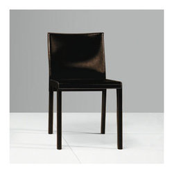 Luxo by Modloft - Fleet Parsons Chair - Synonymous with modern luxury and invites consumers to revel in a contemporary design-forward lifestyle. Luxo by Modloft offers consumers an entire lifestyle in which to live boldly and beautifully via its furniture collections and accessories. Made in Brazil using only environmentally sustainable materials, Luxo by Modloft delivers uncompromising quality with undeniable flair. Well Made. Well. Priced. Well Done. Features: -Dining chair.-Solid frame covered in natural leather.-Please note: This item can not be cancelled after purchase due to the custom nature of the product..-Distressed: No.Dimensions: -Overall Product Weight: 24 lbs.