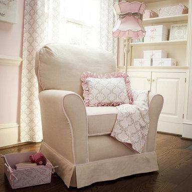 Pink and Taupe Damask Nursery Decor -