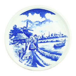 Boch - Consigned Vintage Transferware Blue Delft Plate - Product Details