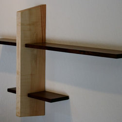 Book Shelf - Introducing the Book Shelf, part of the Honoring Fallen Trees - Shelving Collection. This simple zen like design is available in 4 unique urban salvaged hardwoods. You can choose from Claro Walnut, Mulberry, Valley Oak, and Silver Maple.