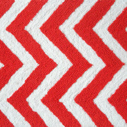 "The Rug Market - CHEVRON ORANGE ,Area Rug ,size   16"" X 27"" - This contemporary rug is made of UV Poly and will surely add color to any space"