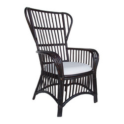 Nassau Wing Back Chair - There's something a little Granny's wicker, a little Asian, and a little French about this stripped down rattan chair. Turns out it was inspired by the influence the French and Vietnamese had on each other during the 1920's and 30's. What this means is that it can fit in with a range of styles, from cozy cottage (perhaps in a bright color option), to transitional, to sitting among mid-century modern pieces.