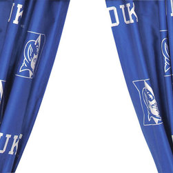 College Covers - NCAA Duke Blue Devils Collegiate Long Window Drapes - FEATURES: