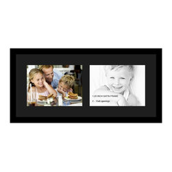 ArtToFrames - ArtToFrames Collage Photo Frame  with 2 - 9x12 Openings and Satin Black Frame - Your one-of-a-kind photos deserve one-of-a-kind frames, but visiting a custom frame shop can be time consuming and expensive. ArtToFrames extensive and growing line of inexpensive multi opening Photo Mats will get you the look you want at a price you can afford. Our Photo Mats come in a variety of sizes and colors and can be custom made to your needs. Frame choices range from traditional to contemporary, with both single and multiple photo opening mat options. With our large selection of custom frame and mat choices, the design possibilities are limitless. When you're done, you'll have a unique custom framed photo that will look like you spent a fortune at a frame shop. Your frame will be delivered directly to your front door or sent as a gift straight to your recipient.