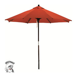 Phat Tommy - PHAT TOMMY Deluxe Sunline Red Orange 9-foot Market Umbrella - Turn your outdoor entertaining area into a festive cafe with this dramatic market umbrella. The red shade resembles umbrellas found in market cafes,and it features open slats that let you enjoy the breeze.