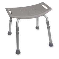 Drive Medical - Drive Medical Bathroom Safety Shower Tub Chair in Grey - With a lightweight aluminum frame and angled legs with suction style tips, this bath chair from Drive Medical combines strength, comfort and security. The blow-molded bench features drainage holes that help reduce slipping.