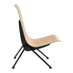 IMPORT LIGHTING & FUNITURE - Antony Chair, Wood - Antony Chair impresses with its sculpted simplicity. It is an appealing reflection of mid-century modern principles of structure and design. This reproduction chair's unconventional construction, featuring a dynamic curved form, makes this piece unique.