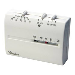 ROBERTSHAW - Robert Shaw Deluxe Mechanical Heat/Cool T-Stat - Features: