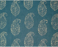 Kashmir Paisley by Peter Dunham Textiles - I am not sure anyone else in this world can do paisley like Peter Dunham. This beautiful and exotic fabric would make gorgeous window treatments or duvet covers. This print is available in a range of scrumptious colors, but peacock is my favorite.