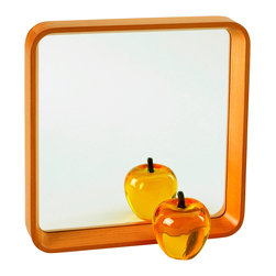 Boom - Myth Mirror - The beautifully curved wood frame adds a midcentury modern touch that makes this mirror feel like an instant classic. You could even use it at a tray! Either way you look at it, you are sure to get a ton of stylish use out of this piece.