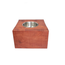 MODgreen - Exotic Hardwood Planter - Red Gum - This unique piece comes all the way from Australia and it is a sure eye catcher due to its size and color. This planter is a perfect option for your decoration if you are looking for a natural reddish color. Use beeswax or tung oil for a nice finished look. When watering the plants, take the insert out to avoid any spilt on your planter.