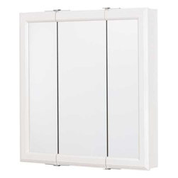 "RSI HOME PRODUCTS - White 24"" Triview Medicine Cabinet ..."