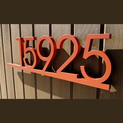 Address Plaques - CUSTOM Minimalist Underline House Number Sign in Aluminum