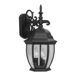 Livex Lighting - Livex Lighting 7540-04 Kingston Wall Light Black - -Finish: Black