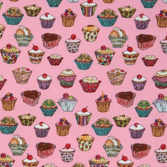 fabric cute pink Michael Miller fabric Cupcakes kawaii