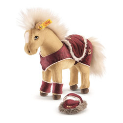 Steiff - Steiff Horse Play Set - Steiff Horse Play Set is made of cuddly soft blond woven plush. Machine washable. Ages 3 and up. Handmade by Steiff of Germany.