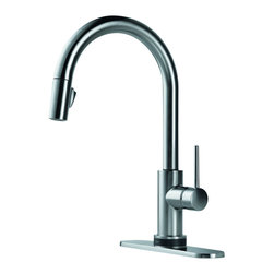 Delta - Trinsic Single Handle Pull-Down Kitchen Faucet Featuring Touch2O - Delta 9159T-AR-DST Trinsic Single Handle Pull-Down Kitchen Faucet Featuring Touch2O and Diamond Seal Technology in Arctic Stainless.