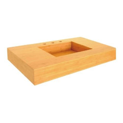 Lenova - Lenova Bv-01 Above Counter Vessel Sink Bamboo - The Lenova BV-01 Bamboo Integrated Counter and Bathroom Sink has overall sink dimensions of 31-Inch by 22-Inch by 4-3/4-Inch and left and right bowl dimensions of 17-Inch by 13-Inch by 4-Inch. The name Lenova is born from a love of space and stars where the universe is truly unlimited. In this boundless spirit we present a line of new and timeless designs for kitchen and bath sinks. Renewable materials in organic forms create an organically magic interior. A warm color with an easy going style, natural bamboo sinks add a very special element to any place. Bamboo bathroom vanities improve the style and beauty of bathrooms. A bamboo bathroom vanity serves as the focal point in a bathroom. Bamboo is a rapid growing grass that naturally replenishes itself. Lenova Sinkware extends a warranty for all Lenova Sinkware bamboo sinks against material and warping, leaking and delaminating to the original purchaser for fifteen years from date of installation or date of use.