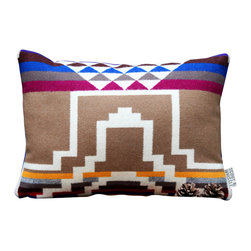Scout & Whistle - Mesa Pendleton Pillow - Inspired by the landscape and culture of the Southwest, this pillow will make a comfy addition to our favorite armchair.